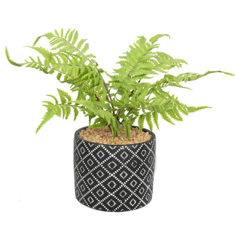 """Fern Artificial 16"""" Potted Plant"""