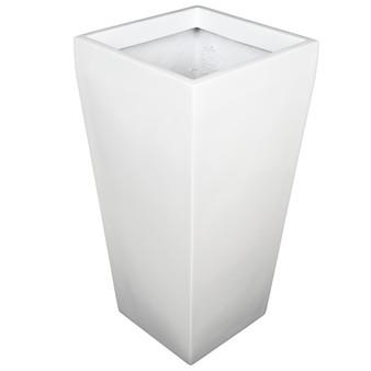 """Fiberglass 30"""" Planter in White"""