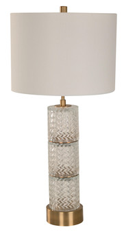 1 Light Table Lamp in Decorative Glass
