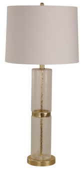 1 Light Table Lamp in Etched Glass
