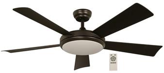 """52"""" LED Ceiling Fan in Black"""