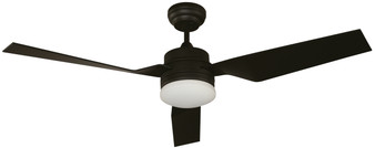 """52"""" LED 24W Ceiling Fan in Black"""