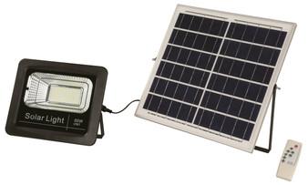 60W LED Solar Flood Light in Black