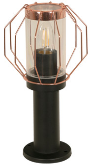 40W 1 Light Outdoor Post Light in Black