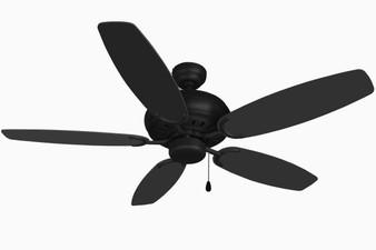 """Blue Mountain 52"""" Indoor Ceiling Fan in Black"""