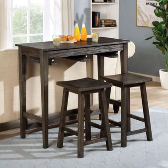 Elinor Counter Height Table Set in Gray