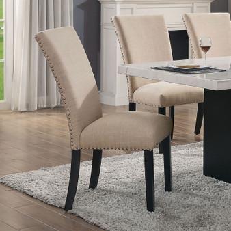 Kian I Side Chair in Black and Beige