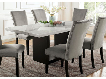 Kian I Dining Table in Black and White
