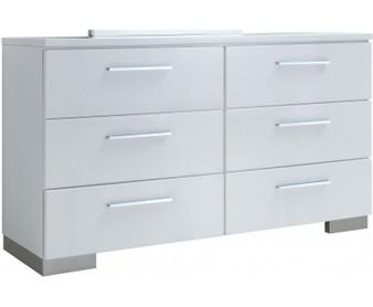 Christie Dresser in Glossy White