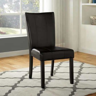 Abia Dining Chair in Black and Gray
