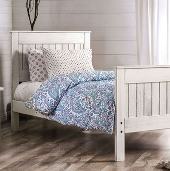 Rockwell Queen Bedframe in Antique White