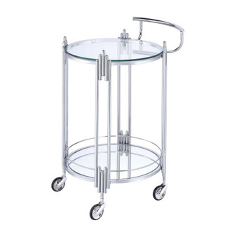 Ebbe Serving Cart in Chrome