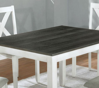 Anya 5pc Dining Table Set in White and Gray