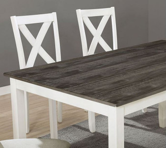 Anya 7pc Dining Table Set in White and Gray