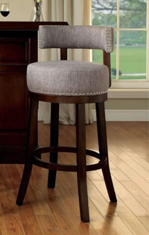 Lynsey Bar Stool in Oak and Gray