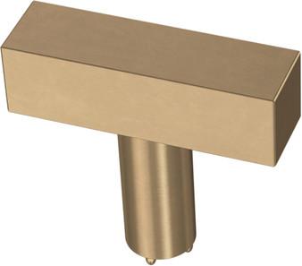 """Square 1-1/2"""" Cabinet Knob in Champagne Bronze"""