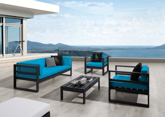 North 4Pc Outdoor Sectional in Charcoal Grey