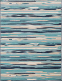 """City 7'10"""" x 10'3"""" Large Rug in Blue"""