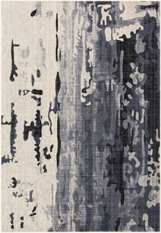 """City 7'10"""" x 10'3"""" Large Rug in Charcoal"""