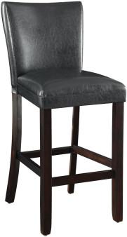 Upholstered Bar Stool in Black