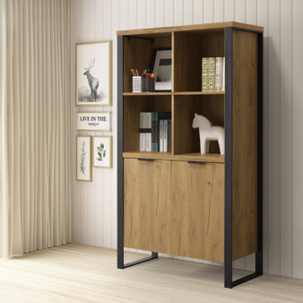 """35"""" Bookcase in Golden Oak"""
