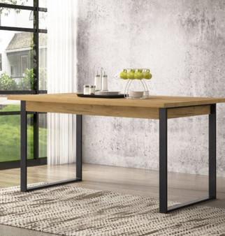"60"" Dining Table in Golden Oak"