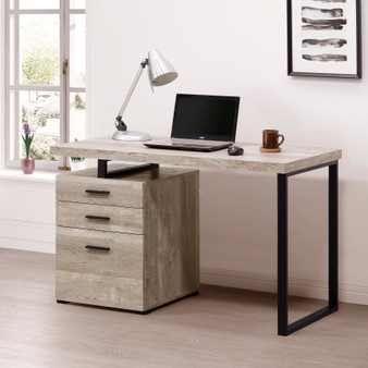 """47"""" Computer Desk in Taupe"""