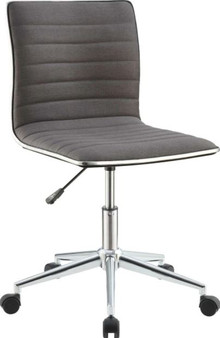 Upholstered Office Chair in Gray