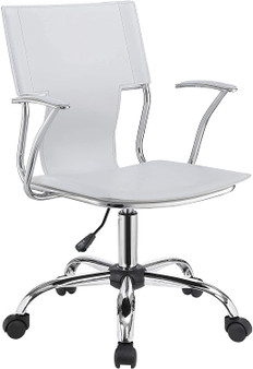 Leatherette Office Chair in White