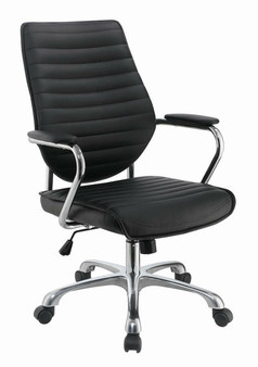 Leatherette Office Chair in Black
