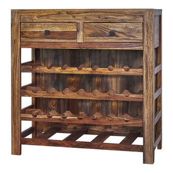 """35"""" Wine Cabinet in Natural"""