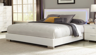 Felicity Queen LED Bedframe in White