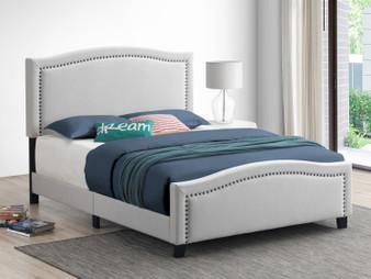 Hamden Upholstered King Bedframe in Beige