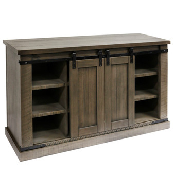 """52"""" Media Console in Taupe Gray"""