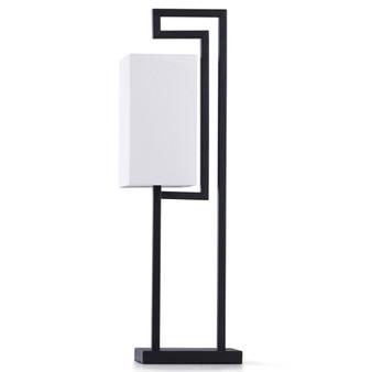 Modern Geometric Desk Lamp in Black