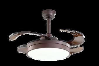 """F012 42"""" Ceiling Fan in Coffee"""