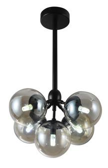 9179 5 Light Pendant in Black