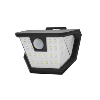 8839 LED 6W Solar Wall Sconce in Black