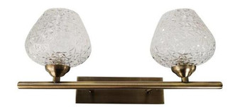 9266 2 Light Wall Sconce in Antique Brass