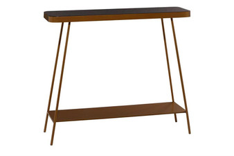 Metal & Glass Console Table