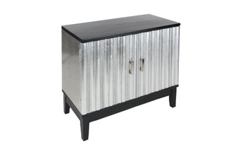 Silver Wood Cabinet