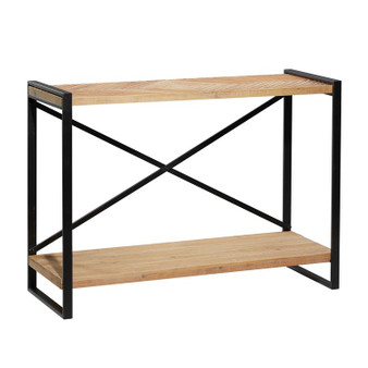 Naturally-Finished Wood Console Table
