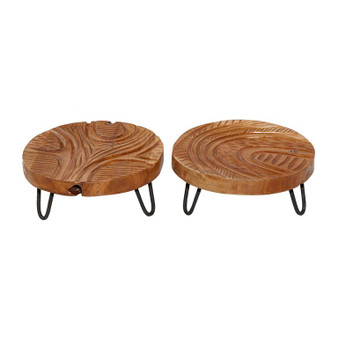 Natural Teak Trays (Set of 2)