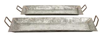 Metal Farmhouse Trays (Set of 2)