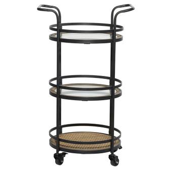 Wood & Metal Bar Cart