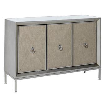 Wood & Fabric Mirror Cabinet
