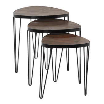 Wood Nested Coffee Tables (Set of 3)