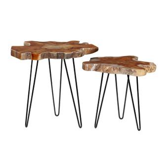 Teak Side Tables (Set of 2)