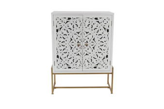Antique White Wood Cabinet