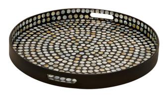 Round Shell Decorative Tray